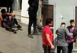 Sokak ortasında bıçaklı kavga