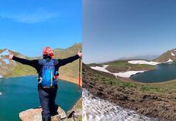 Gerindal Krater Gölüne keşif