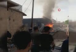Afrinde bombalı yükle araç patladı