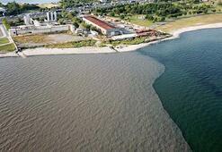 SKİnin arıtma tesisinden bırakılan suyla denizin rengi böyle değişti