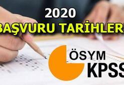KPSS başvuruları ne zaman başlıyor KPSS 2020 Ortaöğretim - Önlisans - Lisans sınavları ne zaman