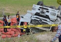 Şarampole devrilen TIRın sürücüsü öldü