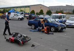 Otomobil ile motosiklet kafa kafaya çarpıştı: 1 ölü, 1 yaralı