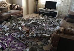 2 katlı evin tavanı çöktü, 2 çocuk yaralandı