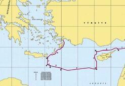 Bakanlık paylaştı İşte Doğu Akdeniz haritası