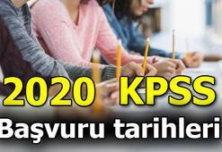 KPSS başvuru ne zaman 2020 KPSS tarihleri
