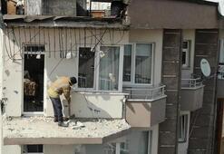 Son dakika... Güngörende 5 katlı binanın teras kısmı alt kattaki balkona çöktü