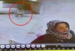 Kahvehaneden masa hırsızlığı güvenlik kamerasında