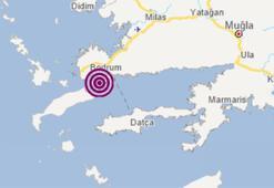 Son dakika haberi... Muğlada korkutan deprem