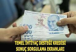 Temel ihtiyaç desteği kredi başvuru sonuçları sorgulama 10 bin TL Halkbank, Vakıfbank, Ziraat Bankası kredi başvurusu...