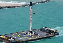 SpaceXin tarihi fırlatışı gerçekleştiren yeniden kullanılabilir roketi karaya ulaştı