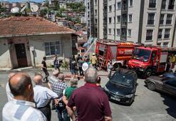 Alibeyköyde dairede yangın, üst kattakiler mahsur kaldı