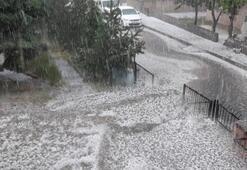 Tokatta dolu yağışı etkili oldu