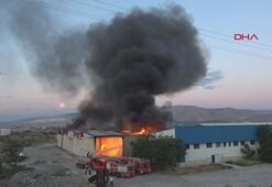 Niğdede tekstil fabrikasında yangın