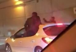 Trafiği kapatıp dakikalarca korku saçmışlardı Gözaltına alındılar