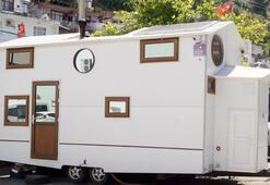 3 ay çalıştı, 40 bin TLye eşi benzeri olmayan bir dubleks karavan üretti