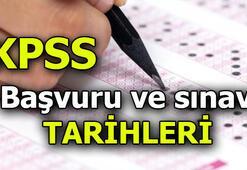 KPSS başvuru işlemleri ne zaman yapılacak, son gün ne zaman KPSS 2020 sınav tarihleri