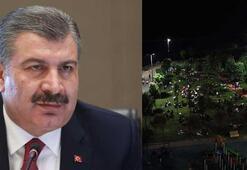 Sağlık Bakanı Koca, Kadıköydeki görüntülere tepki gösterdi