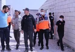 İçişleri Bakanı Süleyman Soylu, İdlibdeki briket evleri inceledi