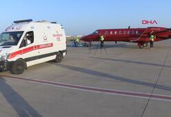 Baküdeki kanser hastası ambulans uçakla İstanbula getirildi
