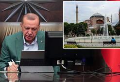 Son dakika Erdoğandan Ayasofya talimatı Kararname üzerinde çalışmalar başladı