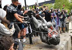 İngiltere İçişleri Bakanından Colstonın heykelinin yıkılmasına tepki
