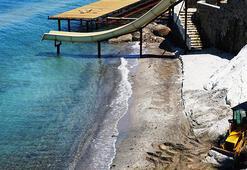 Bodrumda sahile beyaz kum şikayetine inceleme