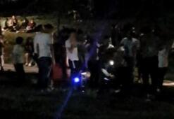 Maçka Parkında corona virüse aldırmadan müzik eşliğinde halay çektiler