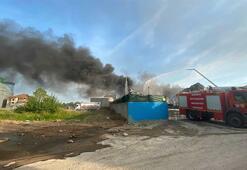 Son Dakika: Sakaryadaki bir geri dönüşüm tesisinde yangın çıktı