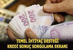 Temel ihtiyaç desteği kredisi başvuru sorgulama ekranı 10 bin TL Halkbank, Vakıfbank, Ziraat Bankası kredi sonuçları...