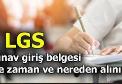 LGS ne zaman, hangi gün LGS sınav giriş belgesi nereden alınacak