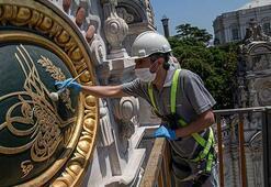 Dolmabahçe Sarayındaki 164 yılık tuğralar restore ediliyor