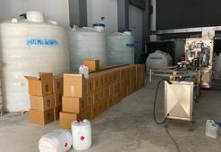 Tuzladaki operasyonda 47 ton metil alkol ele geçirildi