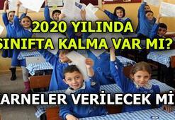 Sınıfta kalma olacak mı, 2020 yılında sınıfta kalma var mı Karneler verilecek mi