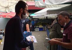 AK Parti Gümüşhanede vatandaşlara 5 bin maske dağıttı