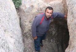 Köylüler yer altı şehrine açıldığı düşünülen tünel bulundu