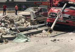 Ankarada feci kaza Freni boşalan kamyonet dehşet saçtı