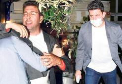 Emre Kınay kavgada maskesiz, karakolda maskeli