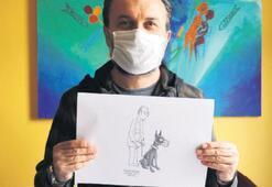 Karikatürle koronavirüs