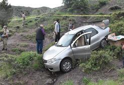 Sivasta feci kaza  20 metreden yuvarlandı