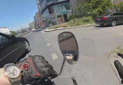 Avcılarda motosiklet kazası ve sonrasında çıkan kavga kamerada