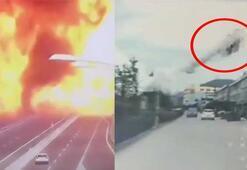 Çinde tanker kazası Ortalık cehenneme döndü