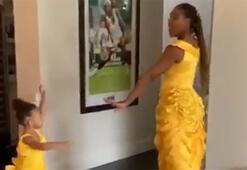 Serena Williams ve kızının keyifli anlarını izliyoruz...