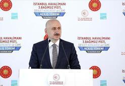 Ulaştırma ve Altyapı Bakanı Adil Karaismailoğlu üçüncü pistin açılış töreninde konuştu