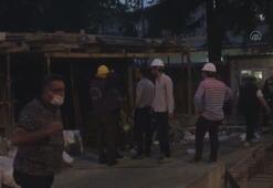 Orduda otel inşaatında çökme meydana geldi