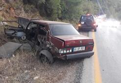336 promille önce otomobile çarptı, sonra ormana daldı