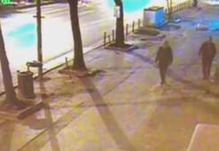 Arkadaşının kafasına taşla vurarak öldüren katil zanlısı kamerada