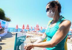 Antalyanın dünyaca ünlü plajında yeni normal tedbirleri