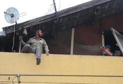 4 katlı binanın çatısına çıkıp, intihara kalkıştı