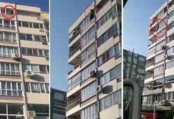 Son dakika... İzmirde şoke eden an 9. kattan atladı, ağır yaralandı